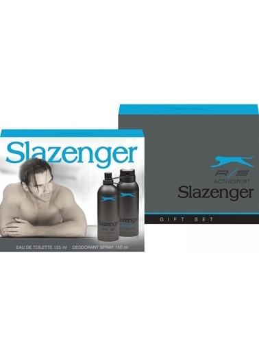 Slazenger Slazenger Mavi Edt 125Ml+Deo150Ml Erkek Parfüm Set Renksiz